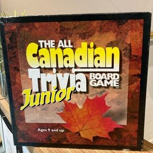 The All Canadian Trivia Junior Board Game VINTAGE
